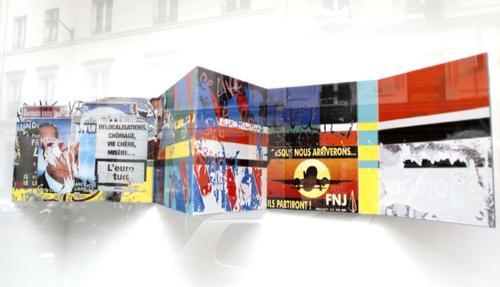 """""""L'euro tue"""", encre sur métal, 37 x 150 x 30 cm, 2013"""