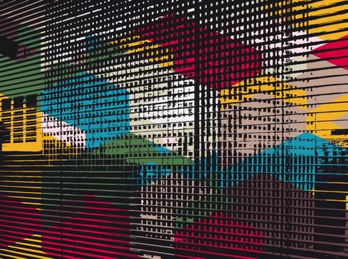"""""""Traits Vitesse"""", jet d'encre sur dibon, 112,5 x 150 cm, 2010"""