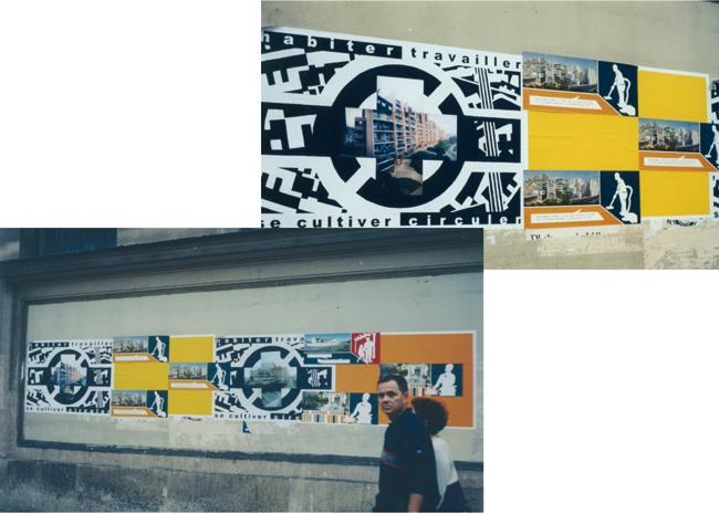 Affichage dans la rue. Paris. 2001