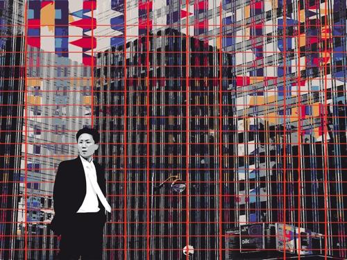 """""""Traits Travail Reflets"""", jet d'encre sur dibon, 112,5 x 150 cm, 2010"""