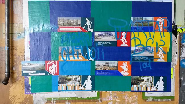 Affichage au festival de Street Art : Rue des arts à Aulnay-sous-bois, 2014