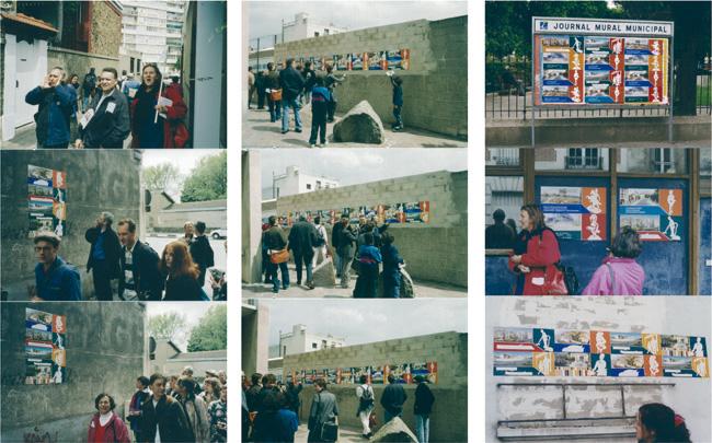 Chemin de Randonnée Urbaine CRU du chômage, avec Ne Pas Plier. Ivry. 1999