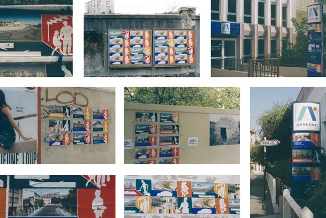Interventions urbaines, Affiches dans Paris et aux frigos avec la revue 9/9. 1999.