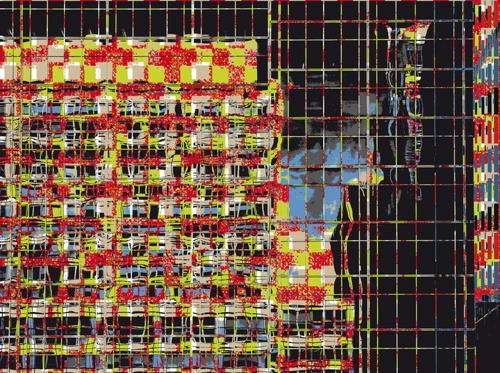 """""""Façade + Reflets"""", jet d'encre sur dibon, 280 x 375 cm, 2012"""